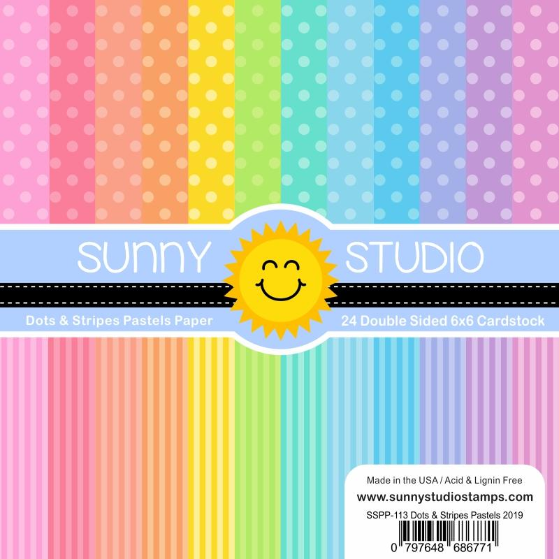 *NEW* - Sunny Studio - Dots & Stripes Pastels Paper