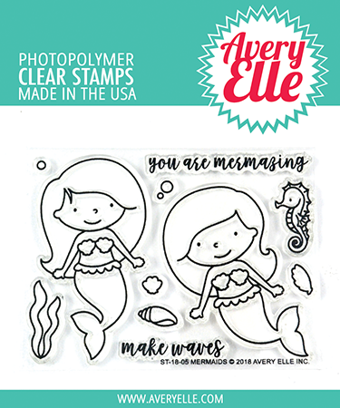 *NEW* - Avery Elle - Mermaids Clear Stamps