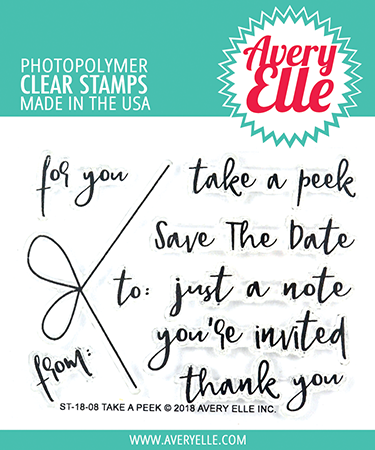 *NEW* - Avery Elle - Take A Peek Clear Stamps