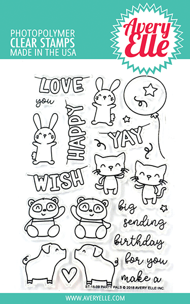*NEW* - Avery Elle - Party Pals Clear Stamps