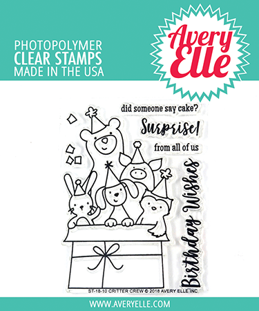 Avery Elle - Critter Crew Clear Stamps