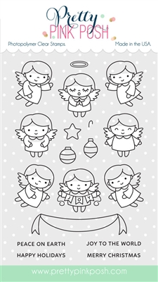 Pretty Pink Posh - Angel Friends stamp set