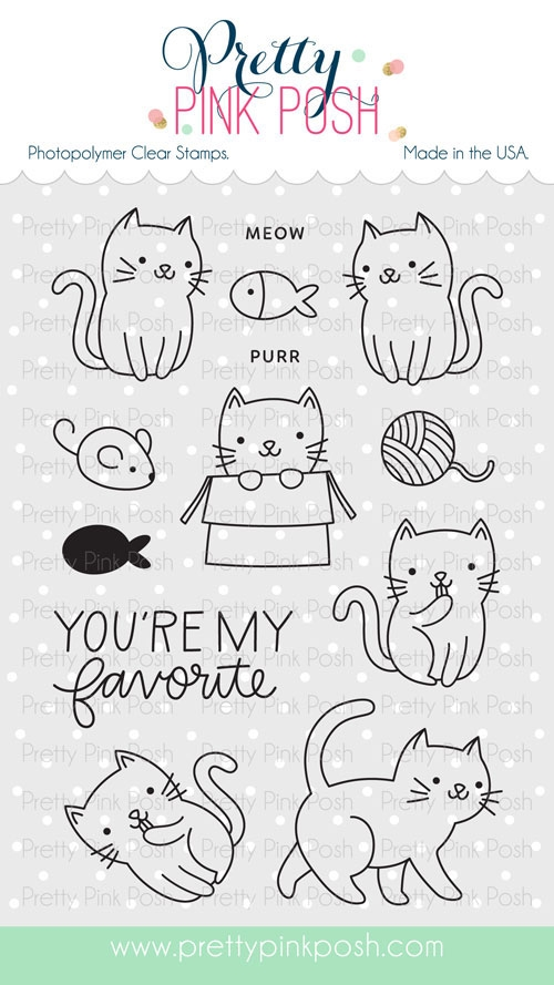 *NEW* - Pretty Pink Posh - Cuddly Cats stamp set
