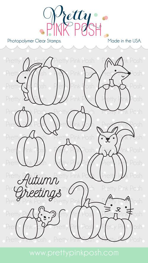 *NEW* - Pretty Pink Posh - Pumpkin Patch Critters stamp set