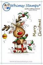Whimsy Stamps - Wee Stamps - Rudolph - Wee Stamps
