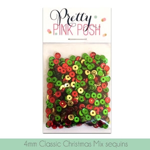 Pretty Pink Posh - 4mm Classic Christmas Sequins Mix