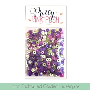 Pretty Pink Posh - 4mm Enchanted Garden Sequins Mix