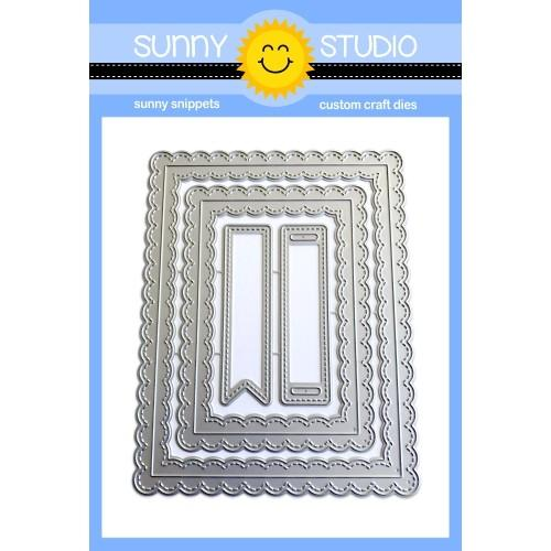 *NEW* - Sunny Studio - Fancy Frames Rectangle