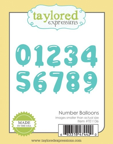 Taylored Expressions - Number Balloons