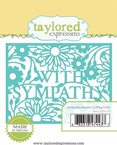 Taylored Expressions - Sympathy Blooms Cutting Plate