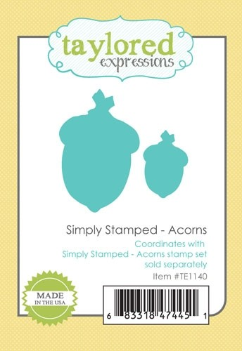 Taylored Expressions - Simply Stamped - Acorns Dies