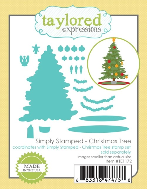 *NEW* - Taylored Expressions - Simply Stamped - Christmas Tree Dies