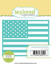 Taylored Expressions - American Flag Cutting Plate