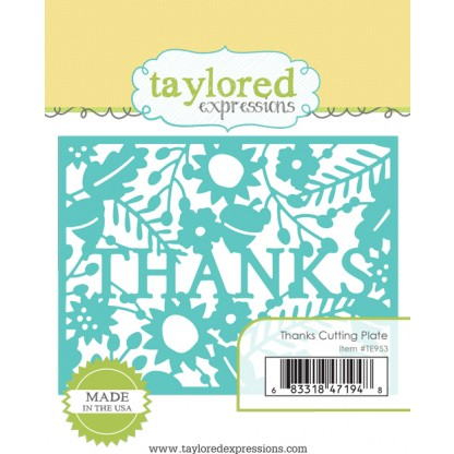 Taylored Expressions- Thanks Cutting Plate