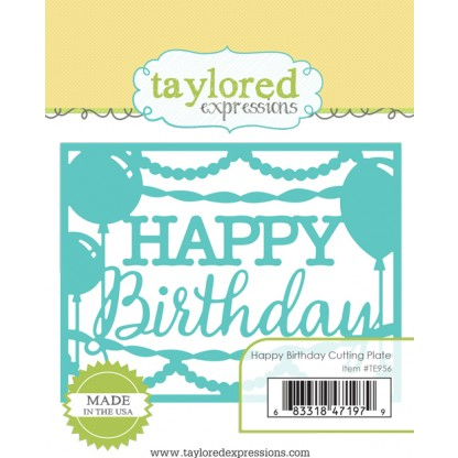 Taylored Expressions- Happy Birthday Cutting Plate