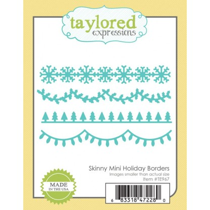 Taylored Expressions- Skinny Mini Holiday Borders