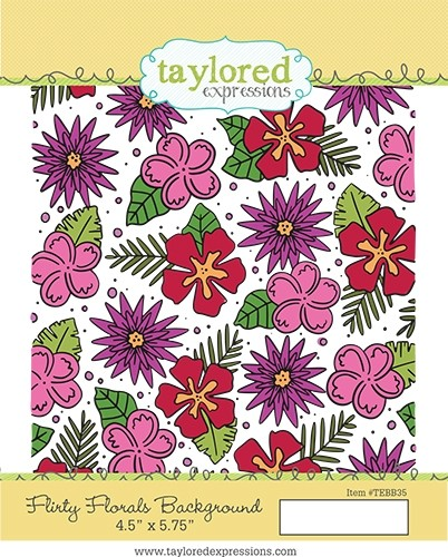 *NEW* - Taylored Expression - Flirty Florals Background