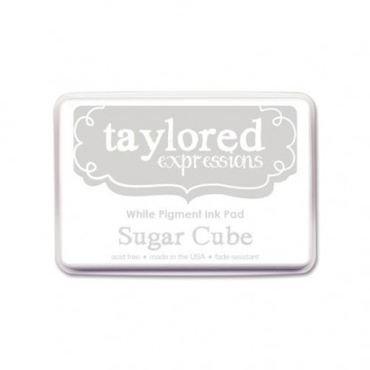 Taylored Expressions- TE Premium White Pigment Ink - Sugar Cube - Full Pad