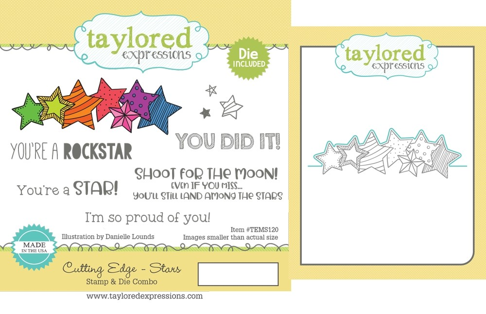 Taylored Expression - Cutting Edge - Stars Stamp & Die Combo