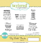 Taylored Expressions - Big Bold Thanks Stamp Set