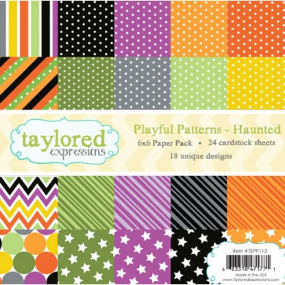 Taylored Expressions- TE 6x6 Paper Pack - Playful Patterns - Haunted