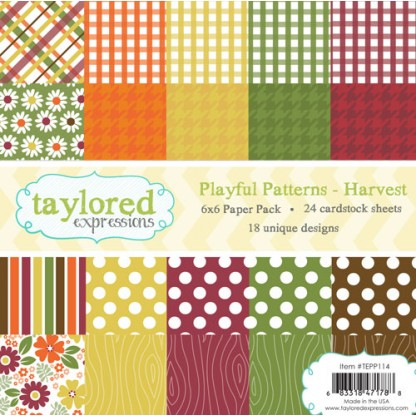 Taylored Expressions- TE 6x6 Paper Pack - Playful Patterns - Harvest