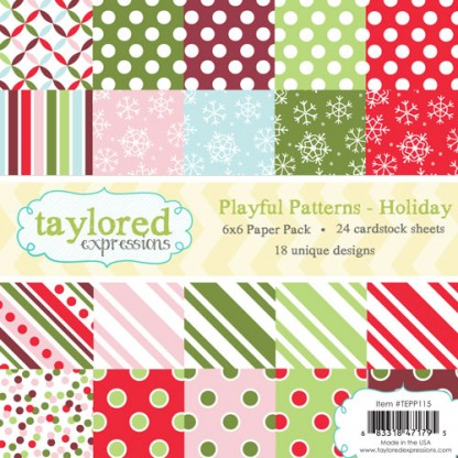 Taylored Expressions- TE 6x6 Paper Pack - Playful Patterns - Holiday