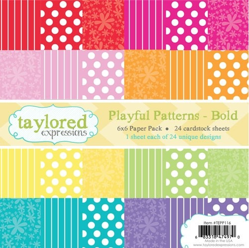 *NEW* - Taylored Expressions - TE 6x6 Paper Pack - Playful Patterns - Bold