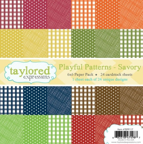 *NEW* - Taylored Expressions - TE 6x6 Paper Pack - Playful Patterns - Savory