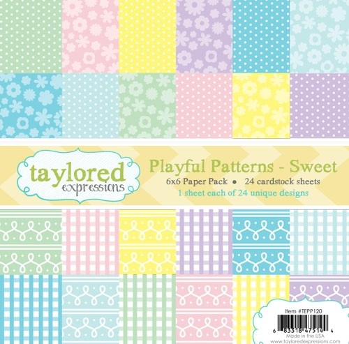 Taylored Expression - TE 6x6 Paper Pack - Playful Patterns - Sweet