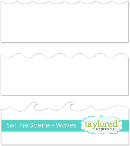 Taylored Expression - Set the Scene - Waves Stencil Strips