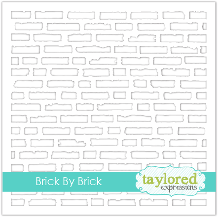 *NEW* - Taylored Expression - Brick by Brick Stencil