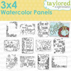 Taylored Expressions - 3x4 Watercolor Panels - Christmas