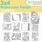 Taylored Expressions - 3x4 Watercolor Panels - Uplifting