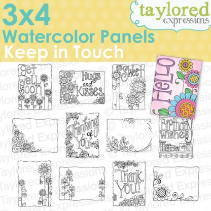 Taylored Expressions - 3x4 Watercolor Panels - Keep In Touch
