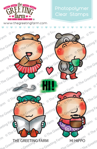 *NEW* -  The Greeting Farm - Hi Hippo - clear