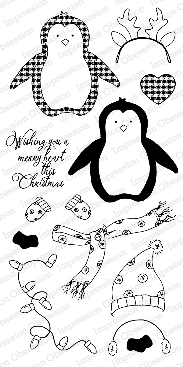 ***XMAS* Impression Obsession - Merry Penguin