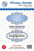 ###Whimsy Stamps - Fancy Label Die - Shapeology Dies