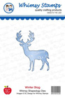 Whimsy Stamps - Winter Stag Die - Shapeology Dies