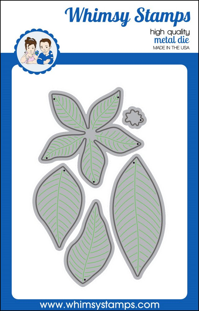 Whimsy Stamps - Build a Poinsettia Die - Shapeology Dies