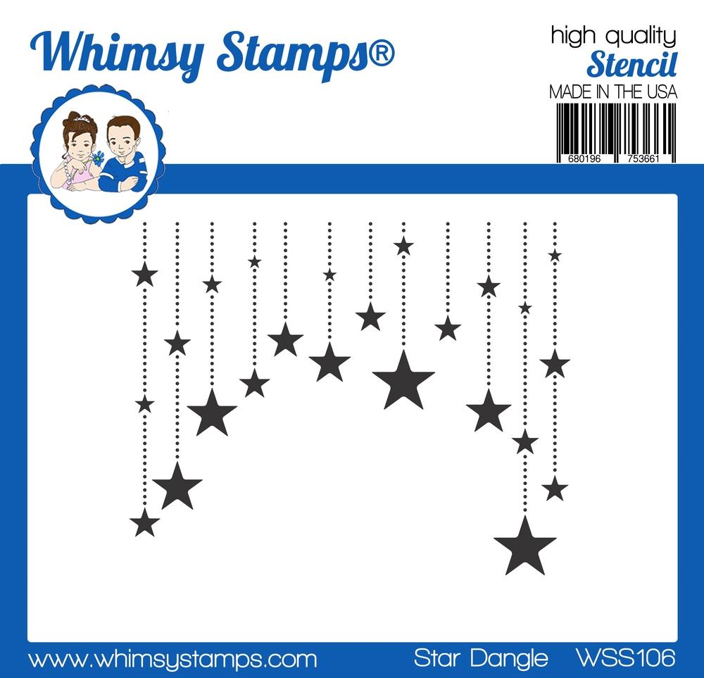 Whimsy Stamps - Star Dangle Stencil