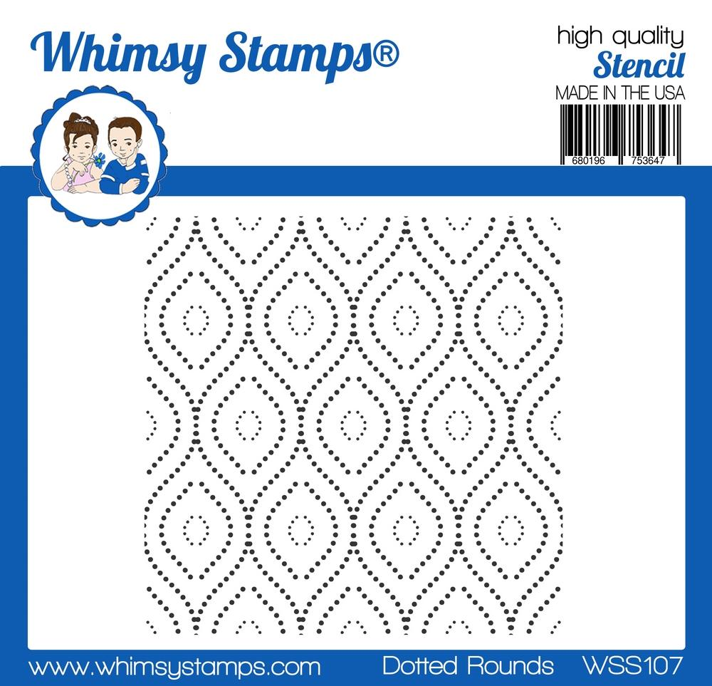 Whimsy Stamps - Dotted Rounds Stencil