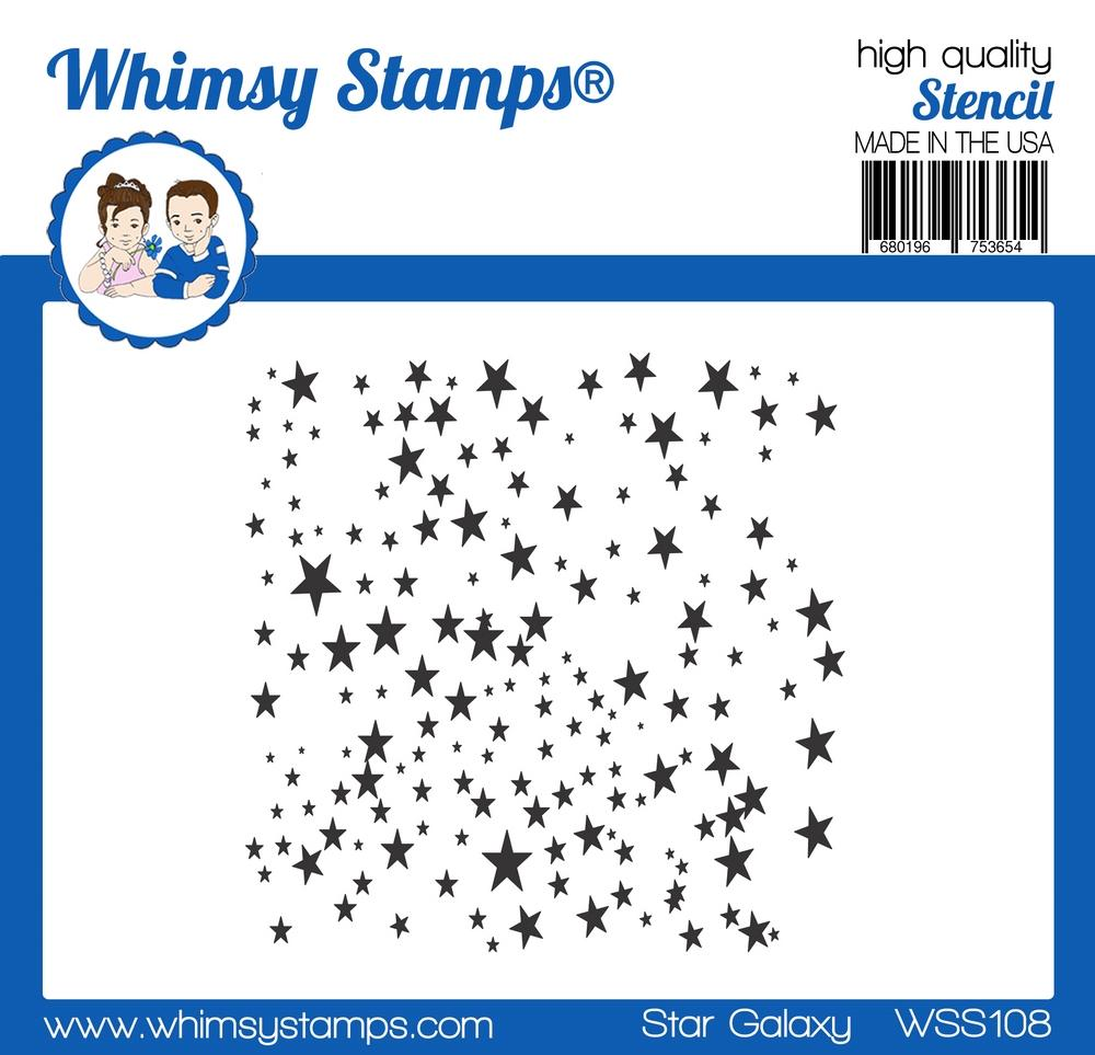 Whimsy Stamps - Star Galaxy Stencil