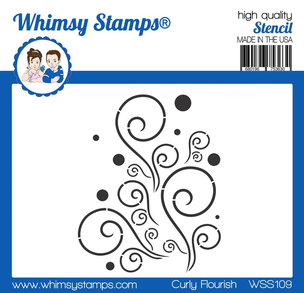 Whimsy Stamps - Curly Flourish Stencil