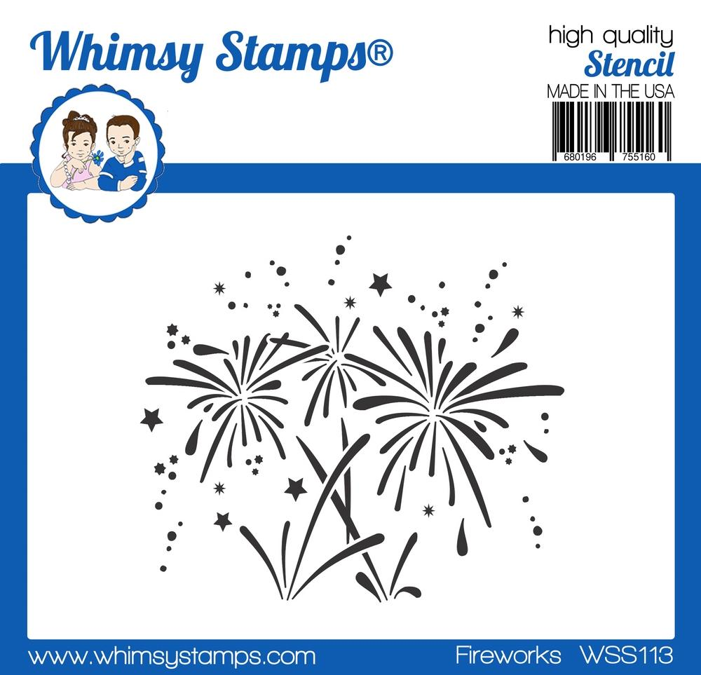 *NEW* - Whimsy Stamps - Fireworks Stencil