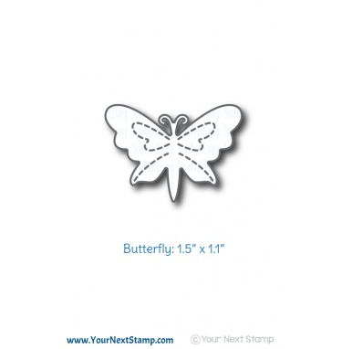 Your Next Stamp- Stitched Butterfly Die