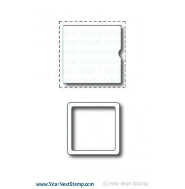 Your Next Stamp- Stitched Peek a Boo Door and Frame Die Set