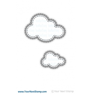 Your Next Stamp- Stitched Puffy Cloud Die Set