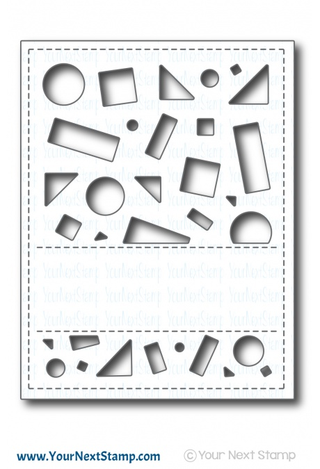 Your Next Stamp - Crazy Shapes Panel Die