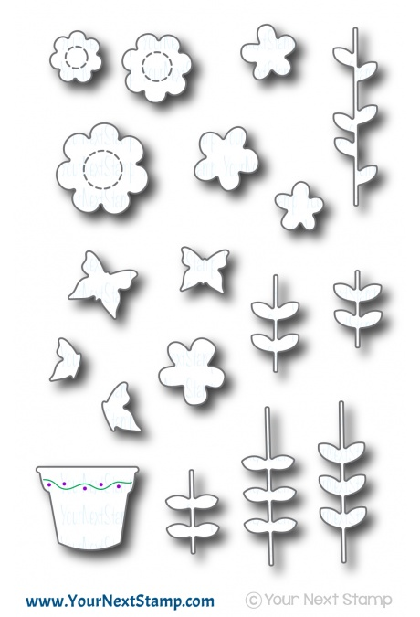Your Next Stamp - Flower Garden Die Set